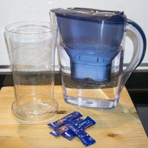 jarrón agua y chrysal